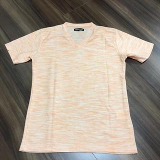 セマンティックデザイン(semantic design)の新品♡セマンティックデザイン Vネック Tシャツ オレンジ(Tシャツ/カットソー(半袖/袖なし))