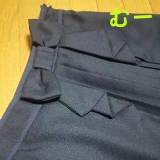 アストリアオディール(ASTORIA ODIER)の【美品】部分プリーツ&ウエストリボンのフリルスカート/ネイビー(ミニスカート)