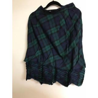 ジュンヤワタナベコムデギャルソン(JUNYA WATANABE COMME des GARCONS)のジュンヤワタナベコムデギャルソン♡緑チェック柄スカートのようなパンツ(カジュアルパンツ)