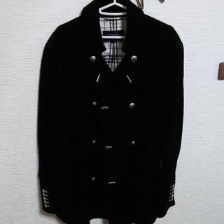 バーバリーブラックレーベル(BURBERRY BLACK LABEL)の美品!バーバリーブラックレーベルナポレオンハーフコート(ピーコート)