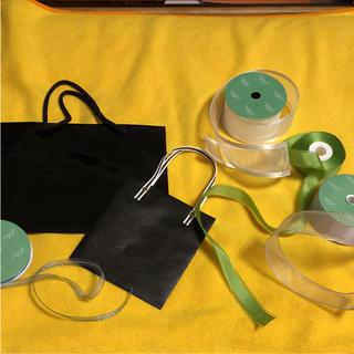 無地プレゼント用袋2枚&リボン4種各1m(カード/レター/ラッピング)