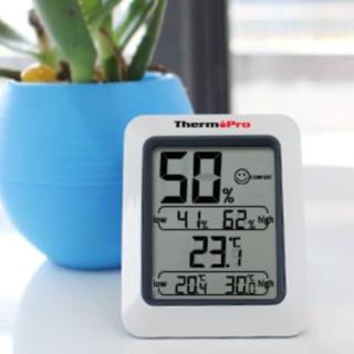 ☆乾燥はお肌の敵デジタル温湿度計☆(置時計)