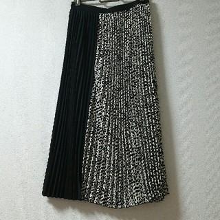 シマムラ(しまむら)の新品 レオパードプリーツスカート しまむらアベイルZARAmoussyslyGU(ひざ丈スカート)