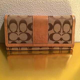 コーチ(COACH)の本物 コーチ シグネチャー 長財布 正規品(財布)