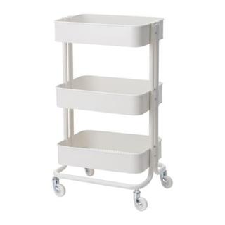 イケア(IKEA)の2個セット♪新品送料込♪未開封♪IKEA RASKOG キッチンワゴン ホワイト(棚/ラック/タンス)