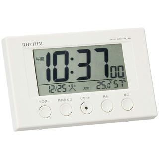 大人気! 電波目覚まし時計 フィットウェーブスマート ホワイト(置時計)