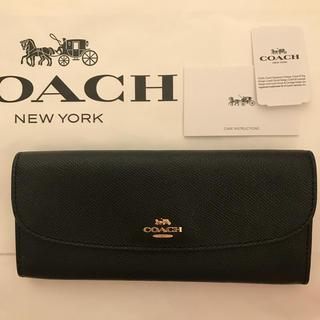 コーチ(COACH)の新品!コーチ 長財布 ブラック(財布)