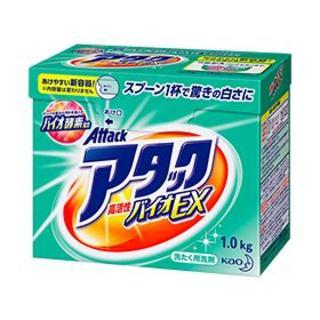 カオウ(花王)の新品 洗濯用洗剤 アタックバイオEX 1.0㎏(洗剤/柔軟剤)