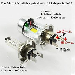 Safego H4 バイクライト用 HS1 LEDヘッドライト:/(パーツ)