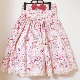 ベイビーザスターズシャインブライト(BABY,THE STARS SHINE BRIGHT)の美品♡ベイビーザスターズシャインブライト フラワーブーケリボンのスカート(ひざ丈スカート)