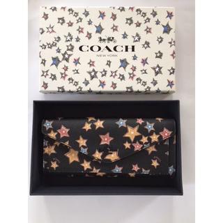 コーチ(COACH)のコーチ/星が可愛い♪薄めの長財布 box付き プレゼントに(財布)