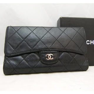 シャネル(CHANEL)の☆本日限定価格☆シャネル財布 三つ折り タイムレスクラシック ブラック レザー(財布)