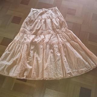 インゲボルグ(INGEBORG)の10【インゲボルグ】オレンジフレアースカート(ロングスカート)
