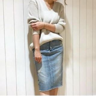 エムケーミッシェルクラン(MK MICHEL KLEIN)のデニムスカート (ひざ丈スカート)