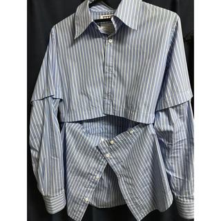 ジョンローレンスサリバン(JOHN LAWRENCE SULLIVAN)のttt_msw combination shirts blue(シャツ)