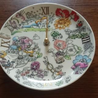 ディズニー アリス 陶時計(置時計)