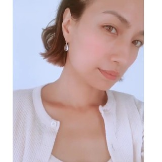エナソルーナ(Enasoluna)のenasoluna sow Drop stone pierced  (ピアス)
