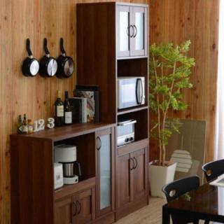 キッチン 食器棚 ウォールナット(キッチン収納)