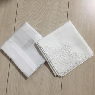 ジュンコシマダ(JUNKO SHIMADA)のブライダルペアハンカチ 美品(ハンカチ)
