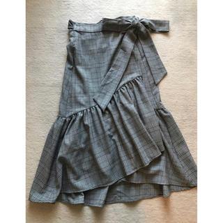 ザラ(ZARA)のZARA グレンチェック スカート(ロングスカート)