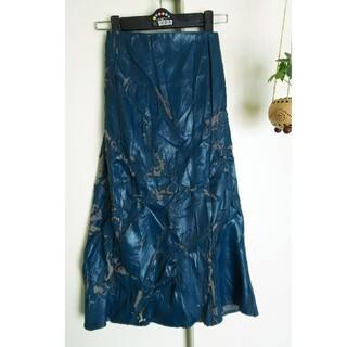 エイチナオト(h.naoto)のZOE LOUiSE レザー スカート ダメージ加工(ロングスカート)
