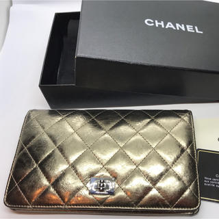 シャネル(CHANEL)のシャネル長財布 マトラッセゴールド A35304 ラムスキン(財布)