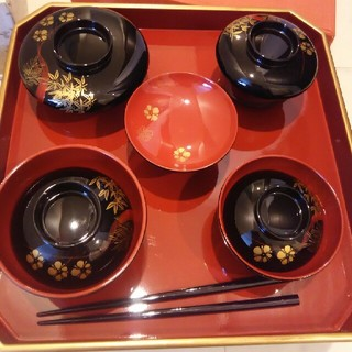 お食い初食器*女子【会津塗り*御祝い膳】(お食い初め用品)