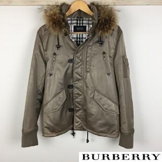 バーバリーブラックレーベル(BURBERRY BLACK LABEL)の美品 BURBERRY BLACK LABEL ジャケット 中綿入 ベージュ(ダウンジャケット)