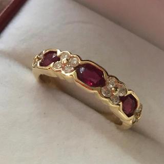 美麗✨ルビー ダイヤモンドリング (リング(指輪))