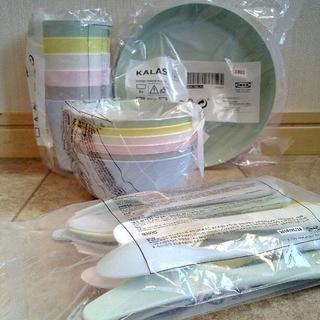 イケア(IKEA)のIKEAプラスチック食器パステルKALAS36点セット(食器)