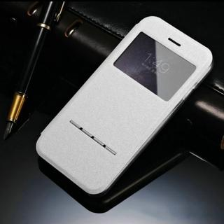 Galaxy S8 ホワイト 小窓 閉じたまま通話可能な ケース(Androidケース)