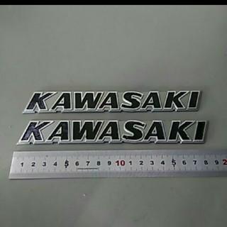カワサキタンクエンブレム 銀×黒(パーツ)