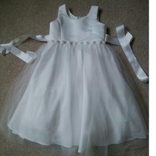 ティップトップ(tip top)のTipTop  女の子ドレス  110サイズ ホワイト(ドレス/フォーマル)