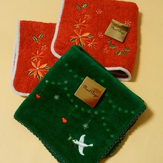 〈新品〉クリスマスタオル 3枚セット(タオル/バス用品)