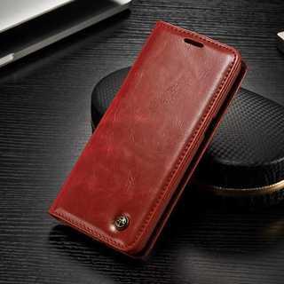 赤 ★ GALAXY  s7 s8 s8+用 レザー 手帳型 ケース ★(Androidケース)