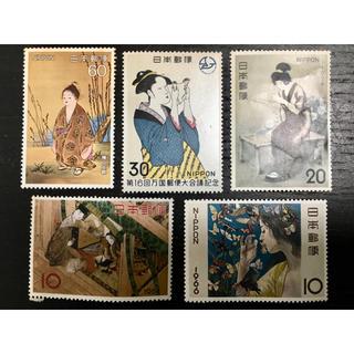 【記念切手】日本の絵画 5枚セット(切手/官製はがき)