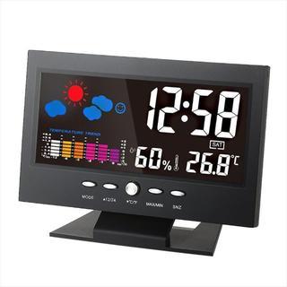☆☆デジタル温度湿度計 LCD温度湿度計(置時計)