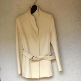 ストロベリーフィールズ(STRAWBERRY-FIELDS)のストロベリーフィールズ コート♡白 ホワイト(ロングコート)