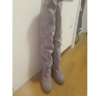ニーハイブーツ23センチ(靴/ブーツ)