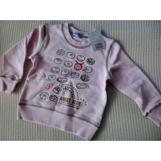 ナルミヤ インターナショナル(NARUMIYA INTERNATIONAL)の新品!綿100% エンジェルブルー ナルミヤ トレーナー 100㎝ ピンク(Tシャツ/カットソー)