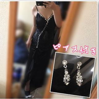 デイジーストア(dazzy store)のビジューロングドレス♡ ブラック(ナイトドレス)