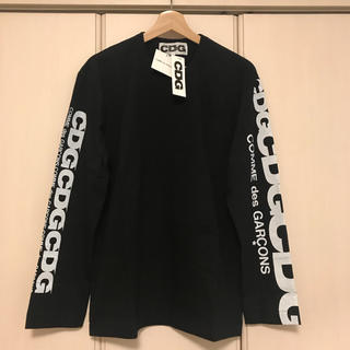 コムデギャルソン(COMME des GARCONS)のロングスリーブ コムデギャルソン エアラインロゴ 新品未使用タグ付き 黒(Tシャツ/カットソー(七分/長袖))