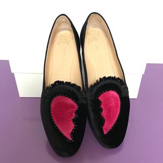 シャルロットオリンピア(Charlotte Olympia)のcharlotte olympia ローファーパンプスフラットシューズ39 25(ローファー/革靴)