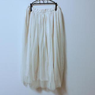シマムラ(しまむら)のチュールスカート 未使用(ロングスカート)