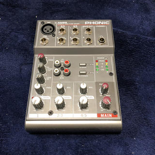 Phonic AM55 アナログミキサー(ミキサー)