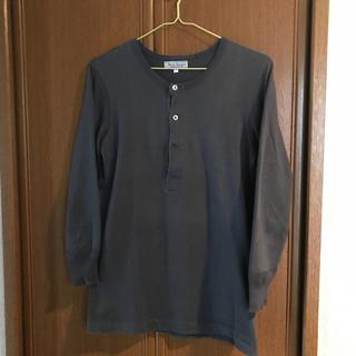 エンジニアードガーメンツ(Engineered Garments)のメルツベーシュヴァーネン ヘンリーネック チャコールグレー 七分袖(Tシャツ/カットソー(七分/長袖))