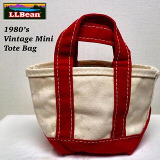 エルエルビーン(L.L.Bean)の1980's L.L.Bean トートバッグ ミニ ヴィンテージ ギザタグ耳付き(トートバッグ)
