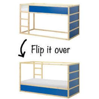 イケア(IKEA)のIKEA ベッド 2段 リバーシブル KURA ♡美品♡(その他)
