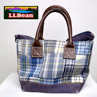 エルエルビーン(L.L.Bean)のllbean  ヴィンテージ レザーハンドル パッチワーク ミニトート バッグ(トートバッグ)