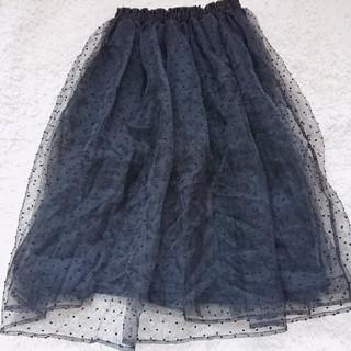 シマムラ(しまむら)のしまむら ドット柄 チュール スカート(ひざ丈スカート)